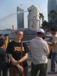 Singapour: le Merlion, symbole kitsch de la ville-île-état