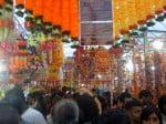 Singapour: marché super occupé pendant le festival Diwali (Deepavali)