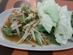 Somtam, spicy papaya salad
